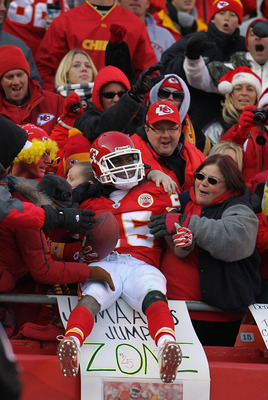 KANSAS CITY, MO - DECEMBER 05:  Jamaal Charles #25 of the Kansas City Chiefs in action during the game against the Denver Broncos on December 5, 2010 at Arrowhead Stadium in Kansas City, Missouri.  (Photo by Jamie Squire/Getty Images)