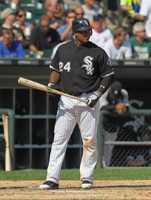CHICAGO, IL - AUGUST 31:  Dayan Viciedo #24 of the Chicago White Sox prepares to bat against the Minnesota Twins at U.S. Cellular Field on August 31, 2011 in Chicago, Illinois. The Twins defeated the White Sox 7-6.  (Photo by Jonathan Daniel/Getty Images)