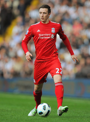 WEST BROMWICH, ENGLAND - APRIL 02:  Danny Wilson of Liverppol in action during the Barclays Premier League match between West Bromwich Albion and Liverpool at The Hawthorns on April 2, 2011 in West Bromwich, England.  (Photo by Michael Regan/Getty Images)