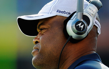 SAN DIEGO, CA - AUGUST 11:  Linebackers coach Ken Norton Jr. of the Seattle Seahawks during the NFL preseason game at Qualcomm Stadium on August 11, 2011 in San Diego, California.  (Photo by Kevork Djansezian/Getty Images)
