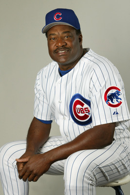 23 FEB 2002: Don Baylor #25 Manager  of the Chicago Cubs poses for a photo during Team Photo Day at the Cubs Training in Mesa, Az. Digital Photo. Photo by Tom Hauck/Getty Images.