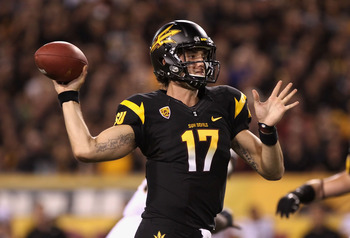 Arizona State QB Brock Osweiler showing off his arm, and the Sun Devils' sleek uniforms, in their win over Missouri