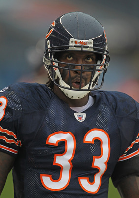 CHICAGO, IL - AUGUST 13:  Charles Tillman #33 of the Chicago Bears participates in warm-ups before a preseason game against the Buffalo Bills at Soldier Field on August 13, 2011 in Chicago, Illinois. The Bears fdefeated the Bills 10-3.  (Photo by Jonathan
