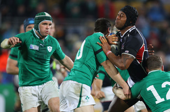 Team USA in action against Ireland