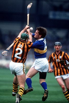 1 Sep 1991:  Bill Hennessy of Kilkenny and Nicky English of Tipperary in action during the Tipperary v Kilkenny All Ireland Hurling Final at Croke Park, Dublin. Mandatory Credit: Simon Bruty/ALLSPORT