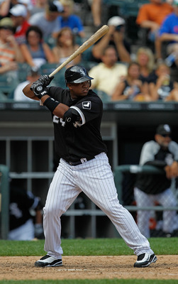 CHICAGO - JUNE 27: Dayan Viciedo #24 of the Chicago White Sox prepares to hit against the Chicago Cubs at U.S. Cellular Field on June 27, 2010 in Chicago, Illinois. The Cubs defeated the White Sox 8-6. (Photo by Jonathan Daniel/Getty Images)