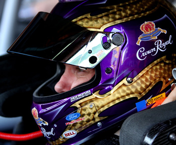 RICHMOND, VA - APRIL 29:  Matt Kenseth, driver of the #17 Crown Royal Ford, sits in his car during practice for the NASCAR Sprint Cup Series Crown Royal Presents The Matthew & Daniel Hansen 400 at Richmond International Raceway on April 29, 2011 in Richmo