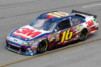 RICHMOND, VA - SEPTEMBER 09:  Greg Biffle, driver of the #16 3M Ford, practices for the Sprint Cup Series Wonderful Pistachios 400 at Richmond International Raceway on September 9, 2011 in Richmond, Virginia.  (Photo by Todd Warshaw/Getty Images for NASCA