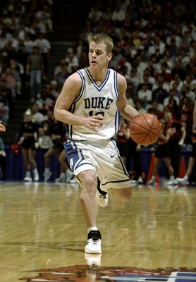 15 Mar 1998:  Guard Steve Wojciechowski of the Duke Blue Devils in action during an NCAA Tournament game against the Oklahoma State Cowboys at Rupp Arena in Lexington, Kentucky. Mandatory Credit: Todd Warshaw  /Allsport