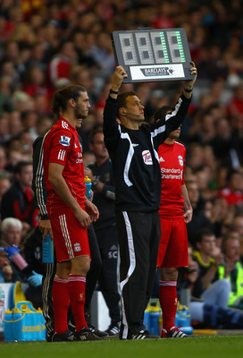 Andy Carroll's usual position for Liverpool this season