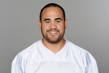 MIAMI, FL - CIRCA 2011: In this handout image provided by the NFL, Koa Misi of the Miami Dolphins poses for his NFL headshot circa 2011 in Miami, Florida. (Photo by NFL via Getty Images)