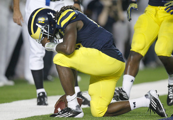 Denard Robinson's confidence got a boost in Saturday's win over Notre Dame.