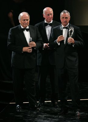 Johan Cruyff, right, is one of world football's most quotable and famous players.