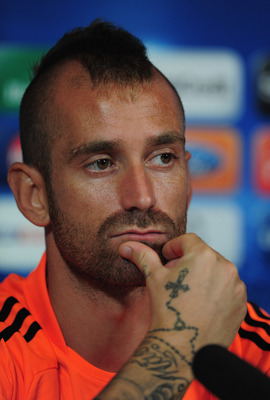 COBHAM, ENGLAND - SEPTEMBER 12:  Raul Meireles of Chelsea looks on during a Chelsea press conference at the Chelsea training centre on September 12, 2011 in Cobham, England.  (Photo by Jamie McDonald/Getty Images)