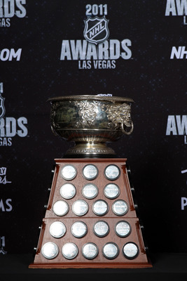 LAS VEGAS, NV - JUNE 22:  The Art Ross Trophy is seen during the 2011 NHL Awards at The Pearl concert theater at the Palms Casino Resort June 22, 2011 in Las Vegas, Nevada.  (Photo by Bruce Bennett/Getty Images)