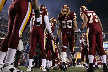 LANDOVER, MD - DECEMBER 21:  LaRon Landry #30 of the Washington Redskins is introduced before the game against the New York Giants during their game on December 21, 2009 at Fedex Field in Landover, Maryland.  (Photo by Al Bello/Getty Images)