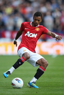BOLTON, ENGLAND - SEPTEMBER 10:  Nani of Manchester United during the Barclays Premier League at the Reebok Stadium on September 10, 2011 in Bolton, England.  (Photo by Michael Steele/Getty Images)