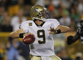 The experience of Drew Brees should be able to hold of the Falcons for one more year