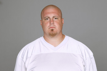 MIAMI, FL - CIRCA 2011: In this handout image provided by the NFL, Marc Colombo of the Miami Dolphins poses for his NFL headshot circa 2011 in Miami, Florida. (Photo by NFL via Getty Images)