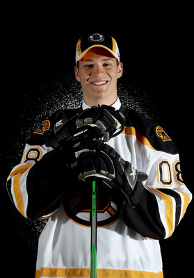 OTTAWA, ON - JUNE 20:  16th overall pick, Joe Colborne of the Boston Bruins poses for a portrait after being selected during the 2008 NHL Entry Draft at Scotiabank Place on June 20, 2008 in Ottawa, Ontario, Canada.  (Photo by Andre Ringuette/Getty Images)