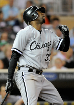 MINNEAPOLIS, MN - SEPTEMBER 7: Alejandro De Aza #30 of the Chicago White Sox reacts to striking out against the Minnesota Twins in the ninth inning on September 7, 2011 at Target Field in Minneapolis, Minnesota. The Twins defeated the White Sox 5-4. (Phot