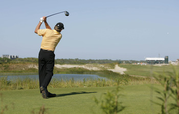 Nick Price during the 3rd round of the Sr PGA Championship being held at the Ocean Course at Kiawah Island Resort in Kiawah Is, SC on May 26, 2007. (Photo by Mike Ehrmann/Getty Images)