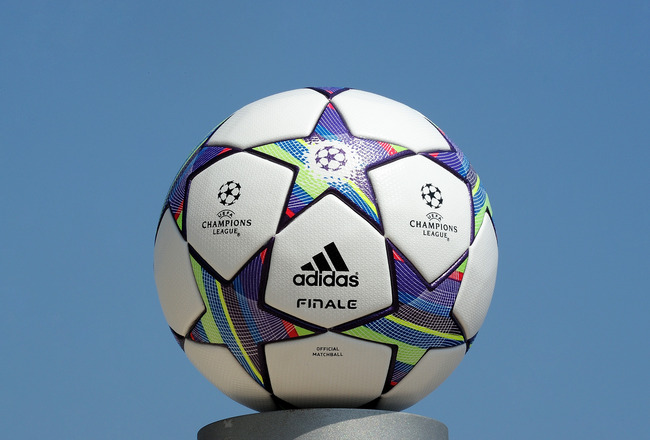 MONACO - AUGUST 25:  The official launch of the adidas UEFA Champions League Finale 11 matchball at the Grimaldi Forum on August 25, 2011 in Monaco.  (Photo by Chris Brunskill/Getty Images for adidas)