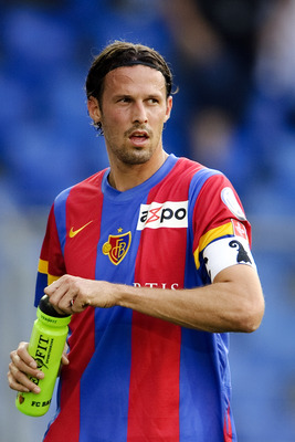 BASEL, SWITZERLAND - AUGUST 13:  Marco Streller of FC Basel 1893 in action during the Swiss Axpo Super League match between FC Basel 1893 and FC Zurich held on August 13, 2011 at St. Jakob-Park in Basel, Switzerland. (Photo by Fabrice Coffrini/EuroFootbal
