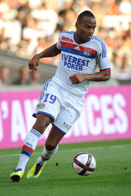 LYON, FRANCE - AUGUST 13:  Jimmy Briand of Olympique Lyonnais in action during the Ligue 1 match between Olympique Lyonnais and AC Ajaccio at Gerland Stadium on August 13, 2011 in Lyon, France.  (Photo by Valerio Pennicino/Getty Images)