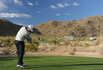 MARANA, AZ - FEBRUARY 23:  Just Rose of England in action during the first round of the World Golf Championships-Accenture Match Play Championship held at The Ritz-Carlton Golf Club, Dove Mountain on February 23, 2011 in Marana, Arizona.  (Photo by Stuart