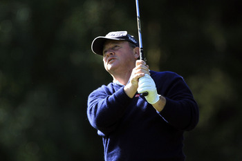 WOBURN, ENGLAND - SEPTEMBER 04:  Ian Woosnam of Wales in action during the first round of the Travis Perkins plc Senior Masters played at the Duke's Course, Woburn Golf Club on September 4, 2009 in Woburn, United Kingdom  (Photo by Phil Inglis/Getty Image