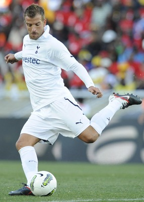 POLOKWANE, SOUTH AFRICA - JULY 16:  Rafael Van der Vaart during the 2011 Vodacom Challenge match between Kaizer Chiefs and Tottenham Hotspur from Peter Mokaba Stadium on July 16, 2011 in Polokwane, South Africa.  (Photo by Lefty Shivmabu/Gallo Images/Gett
