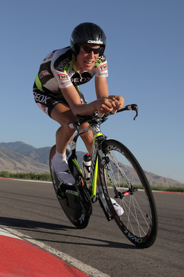 TOOELE, UT - AUGUST 12:  Marcel Wyss of Switzerland riding for Team Geox competes in the Individual Time Trial during Stage Three of the Tour of Utah at the Miller Motorsports Park on August 12, 2011 in Tooele, Utah.  (Photo by Doug Pensinger/Getty Images