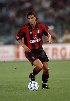 3 Oct 1999:  Paulo Maldini of Milan during the Italian Serie A game between Lazio and AC Milan at the Stadi Olimpico in Rome. \ Photo by Claudio Villa. \ Mandatory Credit: Allsport UK /Allsport