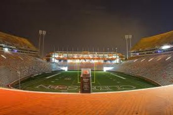 Howard's Rock sits in Death Valley at the player's entrance to the field. They must touch it on the way out for luck and tradition.