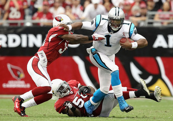 Cam Newton surprised just about everyone when he had 440 yards of total offense in the Panthers lose to Arizona.