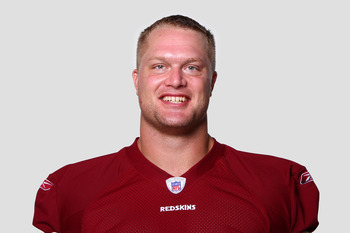 ASHBURN, VA - CIRCA 2011: In this handout image provided by the NFL, Adam Carriker of the Washington Redskins poses for his NFL headshot circa 2011 in Ashburn, Virginia. (Photo by NFL via Getty Images)