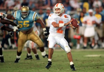 Shown playing against UCLA, future MLB All-Star Todd Helton was a quarterback for Tennessee