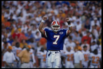 Danny Wuerffel struck this pose often in his Gator career against Tennessee.