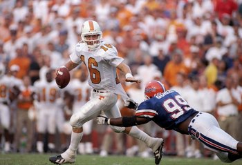 Peyton Manning played in four Florida-Tennessee games.