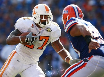 Arian Foster was on campus for five Tennessee-Florida games.