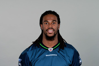 RENTON, WA- CIRCA 2011: In this handout image provided by the NFL, Sidney Rice of the Seattle Seahawks poses for his NFL headshot circa 2011 in Renton, Washington. (Photo by NFL via Getty Images)