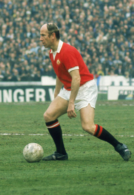 LONDON - APRIL 28:  Bobby Charlton of Manchester United runs with the ball during the League Division One match between Chelsea and Manchester United held on April 28, 1973 at Stamford Bridge, in London. Chelsea won the match 1-0. This was a special game