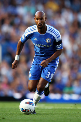 LONDON, ENGLAND - AUGUST 20:  Nicolas Anelka of Chelsea runs with the ball during the Barclays Premier League match between Chelsea and West Bromwich Albion at Stamford Bridge on August 20, 2011 in London, England.  (Photo by Julian Finney/Getty Images)
