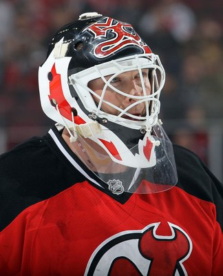 NEWARK, NJ - MARCH 08:  Martin Brodeur #30 of the New Jersey Devils in action against the Ottawa Senators at the Prudential Center on March 8, 2011 in Newark, New Jersey.  (Photo by Jim McIsaac/Getty Images)