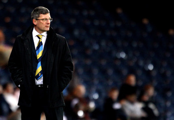 GLASGOW, SCOTLAND - MARCH 03:  Craig Levein coach of Scotland during the International Friendly match between Scotland and the Czech Republic at Hampden Park on March 3, 2010 in Glasgow, Scotland.  (Photo by Jeff J Mitchell/Getty Images)