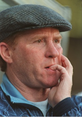 1995:  Manager of Manchester City, Alan Ball feels the pressure after Manchester City's FA Premiership match at Maine Road, Manchester. Mandatory Credit: Mark Thompson/ALLSPORT