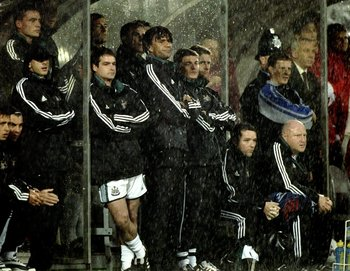 25 Aug 1999:  A dejected Ruud Gullit of Newcastle as his side go 2-1 down during the Newcastle United v Sunderland FA Carling Premiership match at St James's Park, Newcastle. \ Mandatory Credit: Graham Chadwick /Allsport