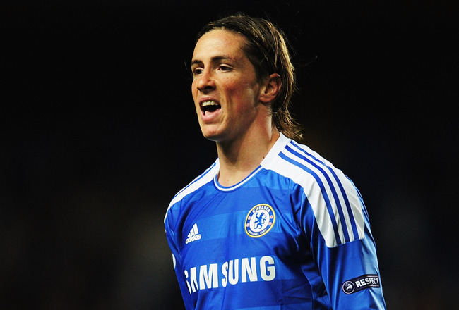 LONDON, ENGLAND - SEPTEMBER 13:  Fernando Torres of Chelsea reacts during the UEFA Champions League group E match between Chelsea FC and Bayer 04 Leverkusen at Stamford Bridge on September 13, 2011 in London, England.  (Photo by Jamie McDonald/Getty Image