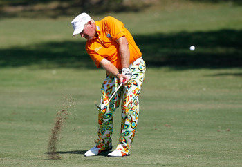 KNOXVILLE, TN - AUGUST 27:  John Daly plays his second shot on the 17th hole during the third round of the Knoxville News Sentinel Open at Fox Den Country Club on August 27, 2011 in Knoxville, Tennessee.  (Photo by Kevin C. Cox/Getty Images)